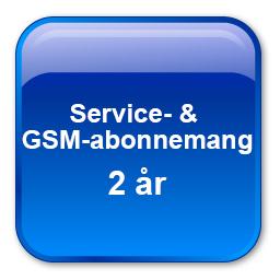 Service & GSM-abonnemang för två år