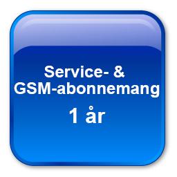 GSM- & Serviceabonnemang för ett år